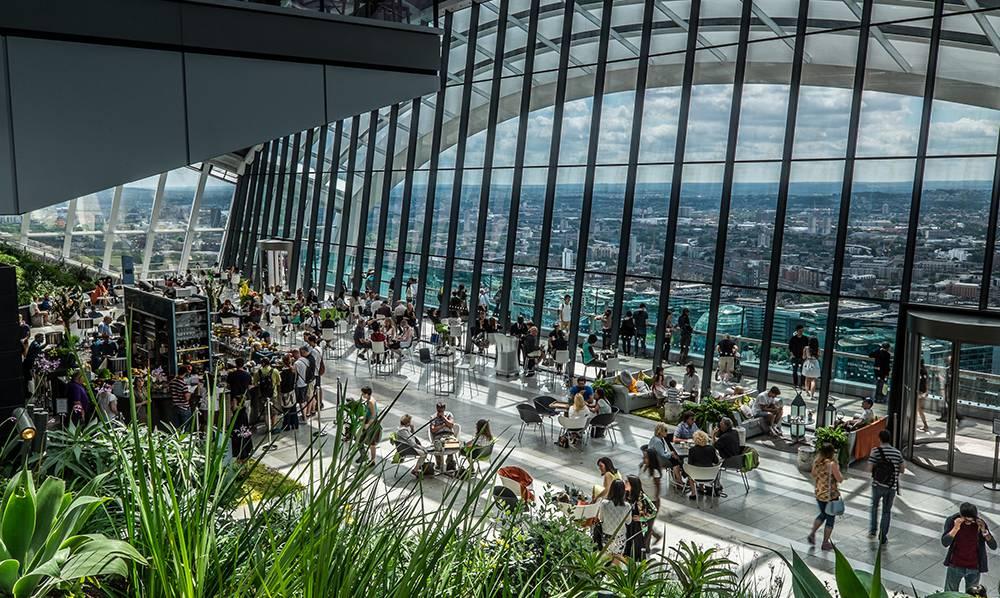 sky garden w Londynie